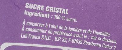 Zucker - Ingrédients - fr