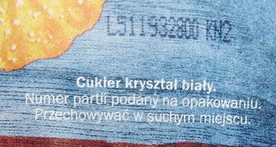 Sucre en poudre - Składniki - pl