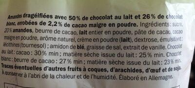 Amandes cappuccino - Ingredients - fr