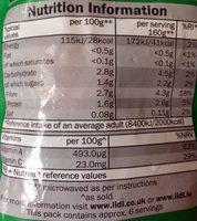 Vegetable Medley - Informations nutritionnelles - en