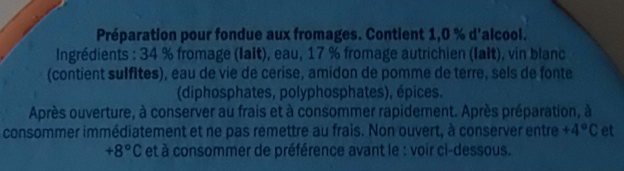 Fondue aux fromages - Ingredients - fr