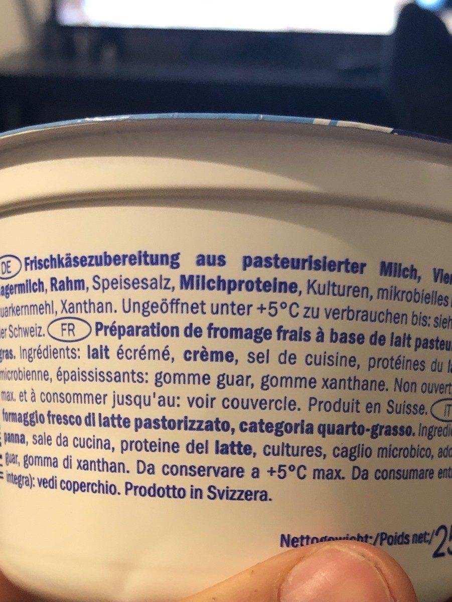 Cottage Cheese Nature - Ingrediënten - fr
