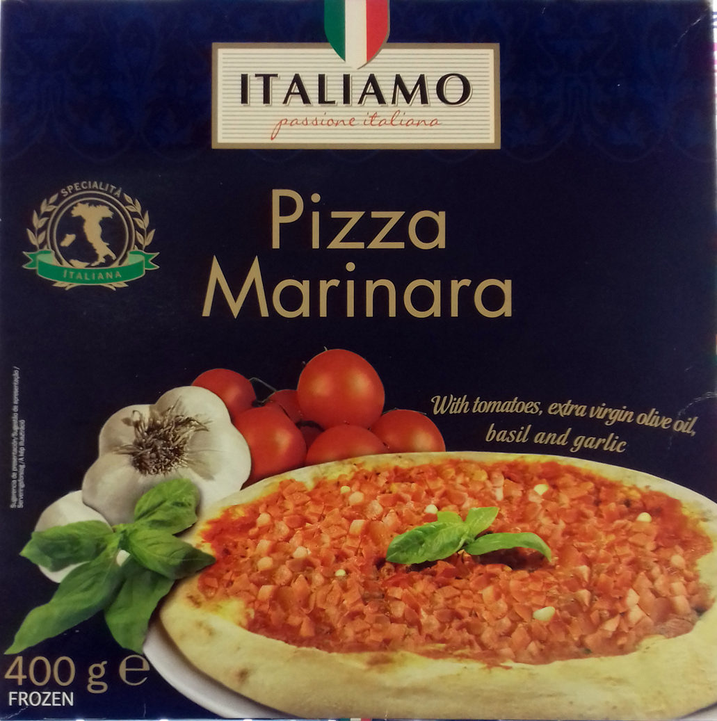 Pizza marinara - Produit