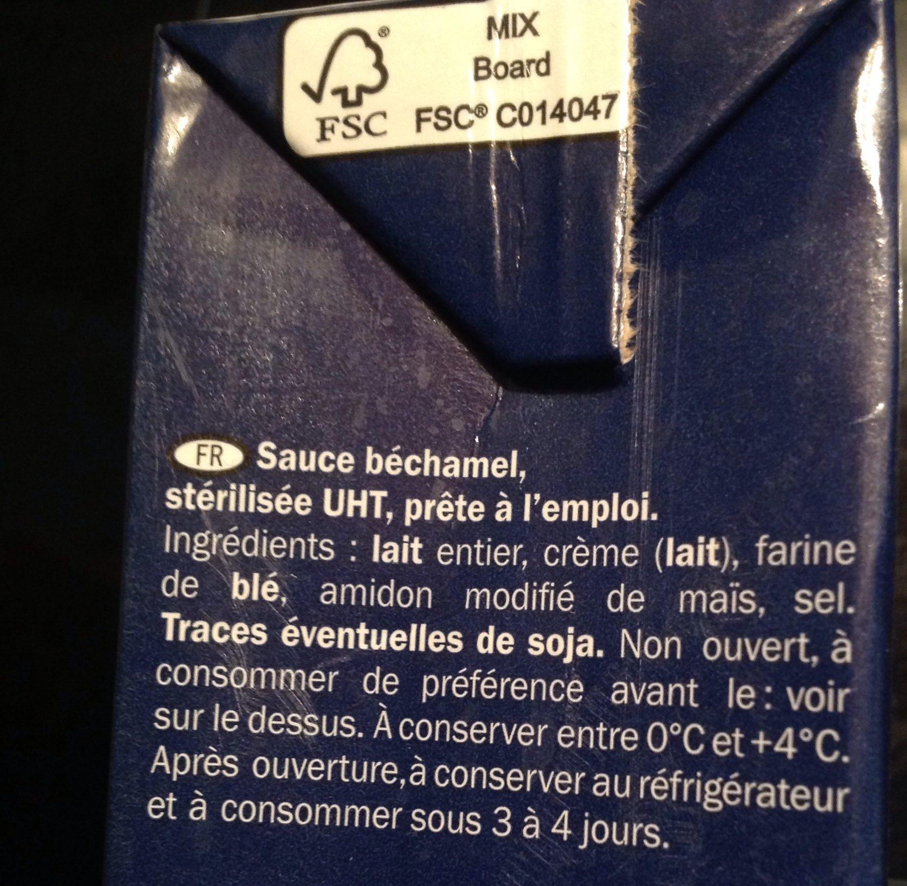 Besciamella - Béchamel Sauce - Italiamo - Ingredients - fr
