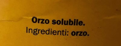 Orzo solubile - Ingrédients - fr