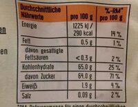 Dattes - Informations nutritionnelles - en