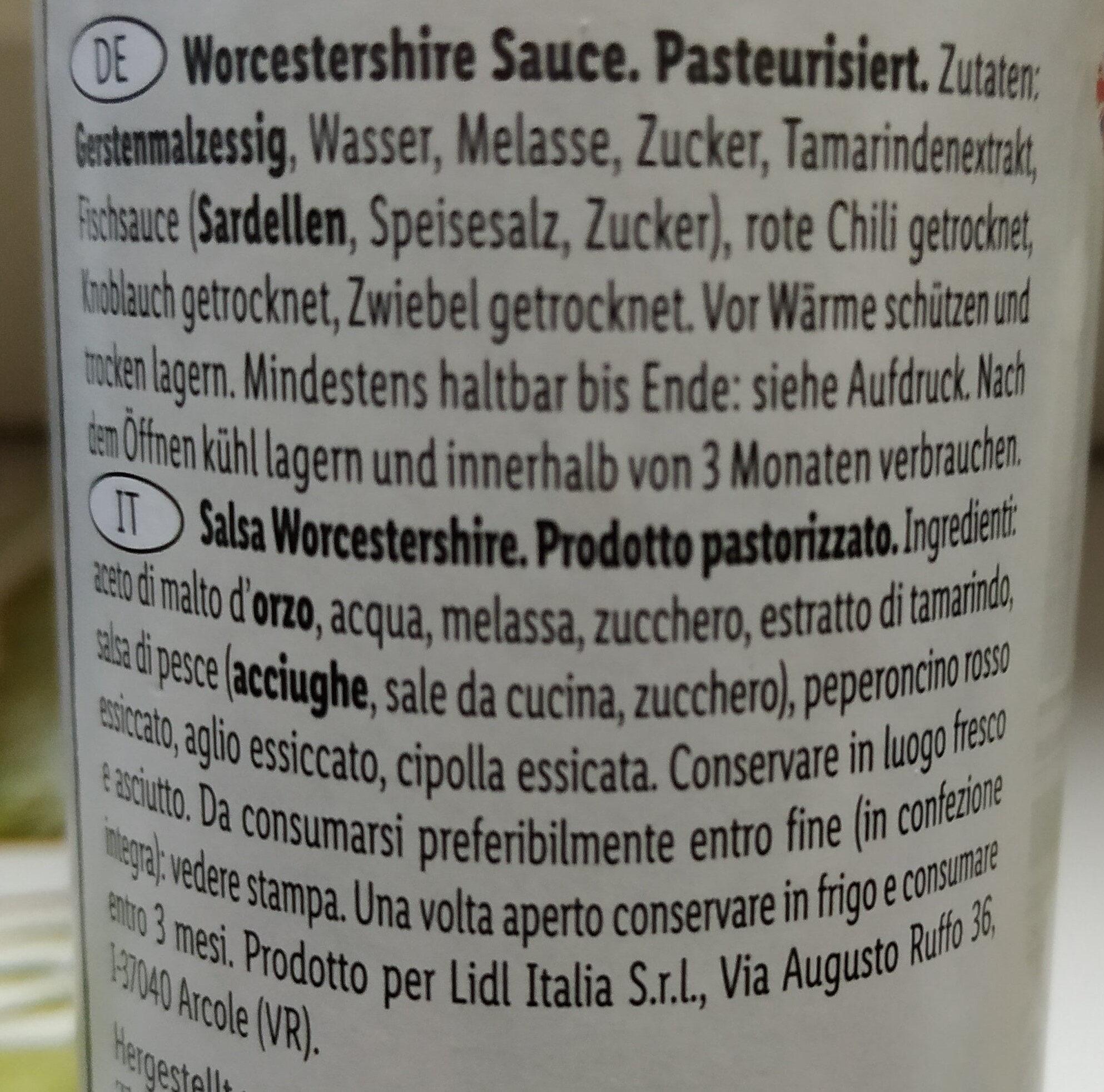 Worchester Shire Sauce - Ingredients - fr