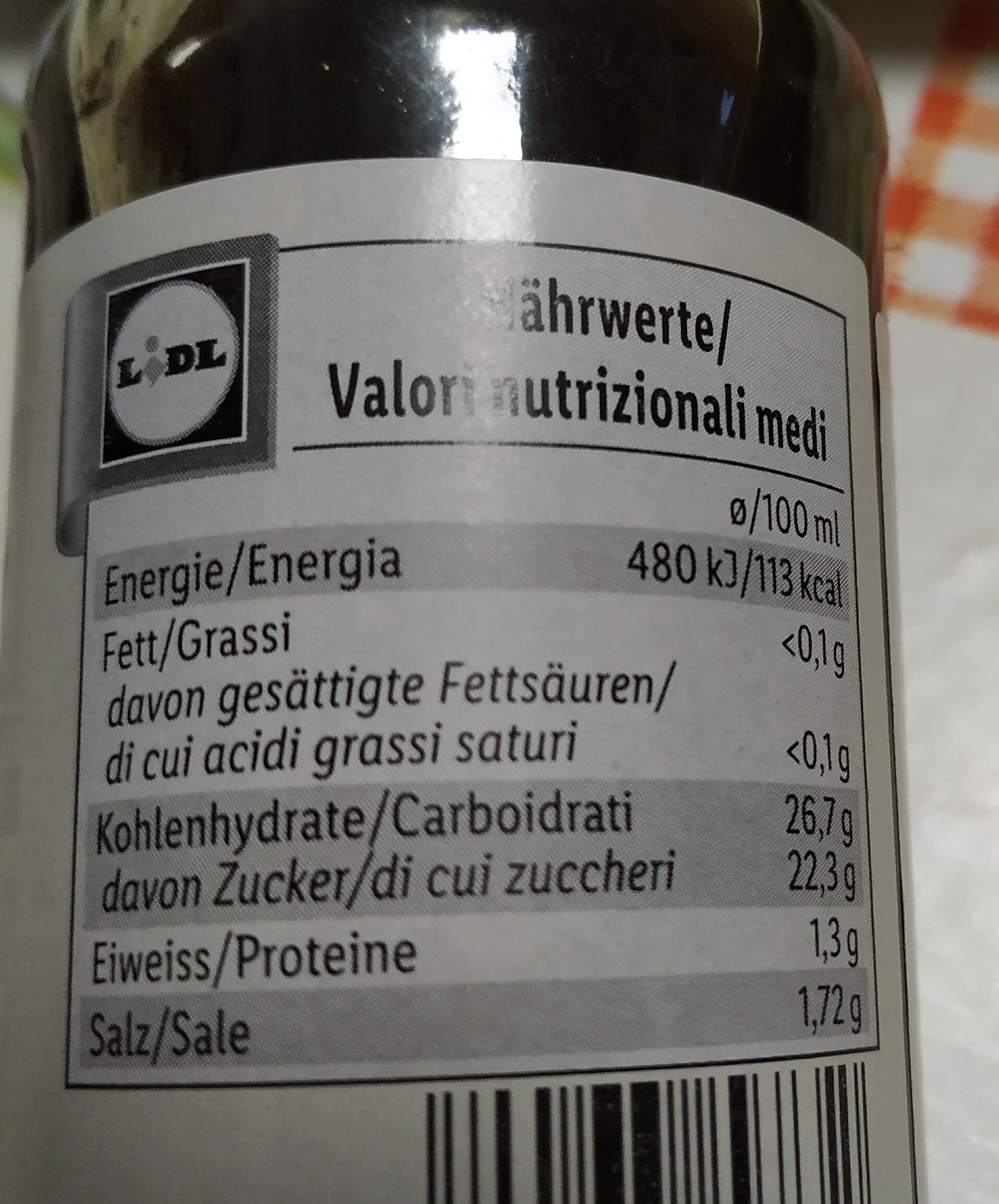 Worchester Shire Sauce - Nutrition facts - fr