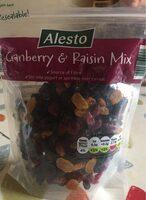 Cranberry & raisin mix - Produit - en
