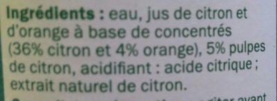 Citron à diluer - Ingrédients - fr