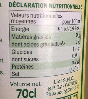 Citron à diluer - Informations nutritionnelles - fr