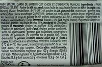 Mini Viennois Jambon Emmental - Ingredients