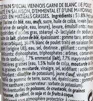 Poulet Emmental Mayonnaise allégée - Ingrédients - fr