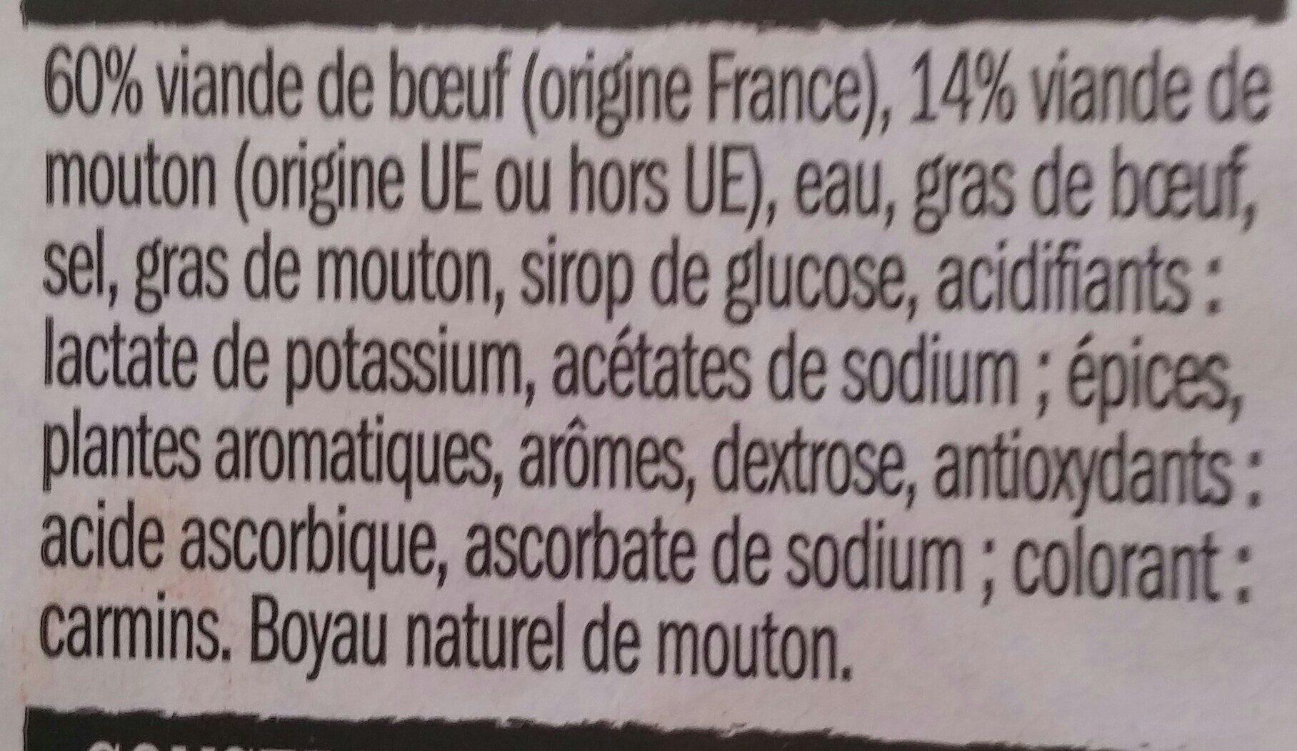 6 Merguez Véritables - Ingredients