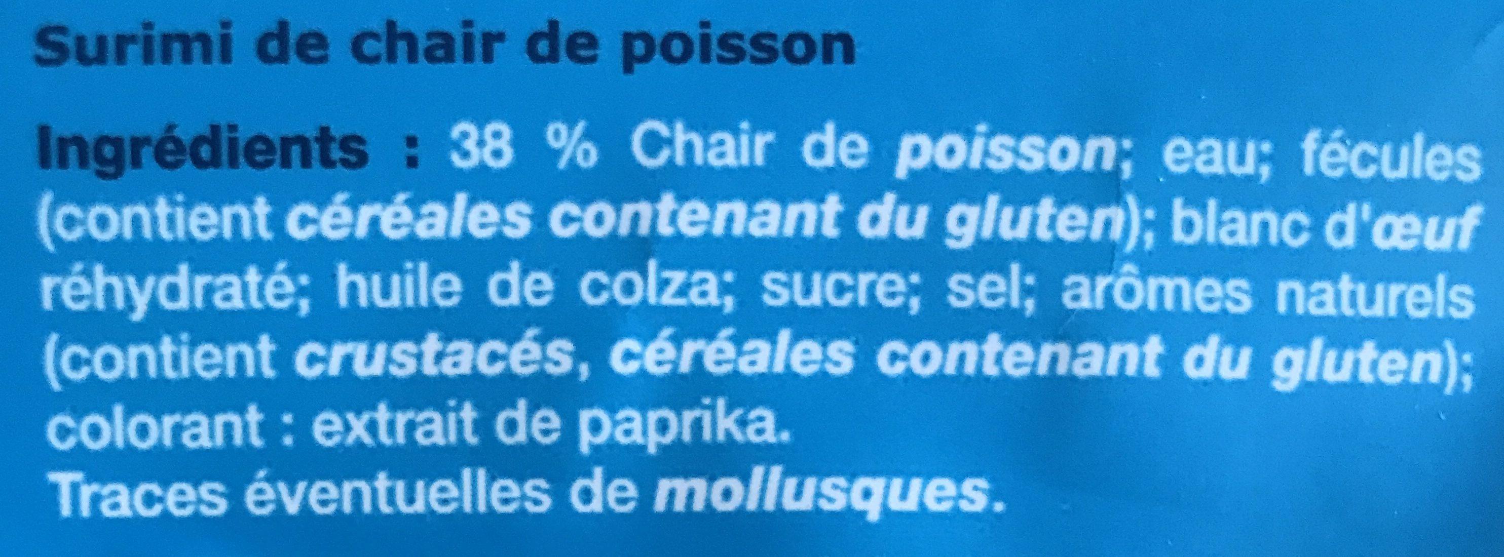 Surimi - Ingrédients - fr