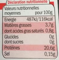 Rôti** à rôtir - Nutrition facts - fr