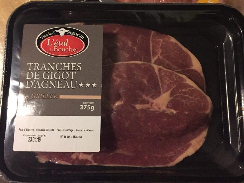 Tranches de Gigot d'agneau Sans Os - Produit