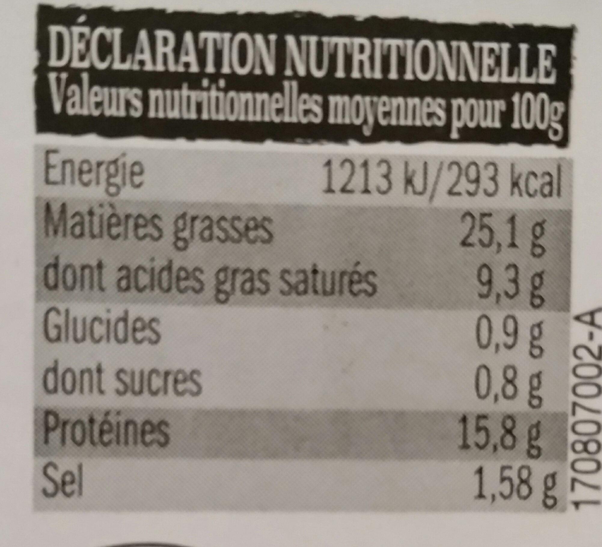 8 saucisse de toulouse - Informations nutritionnelles
