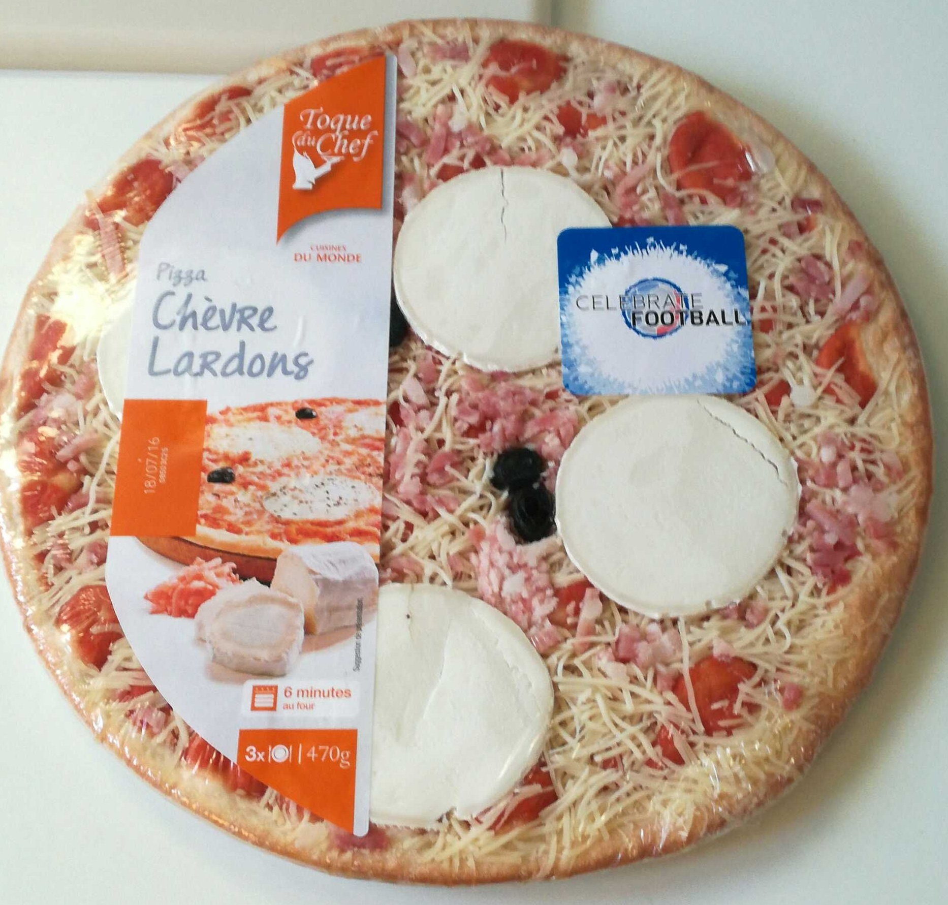 Pizza Chèvre Lardons - Produit - fr
