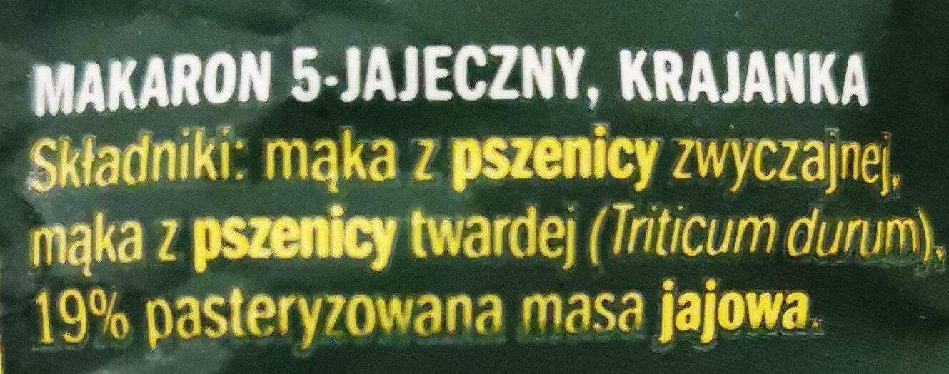 Makaron 5-jajeczny, krajanka - Składniki - pl
