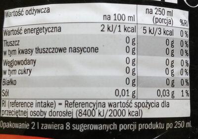 Napój gazowany o smaku coli - Wartości odżywcze - pl
