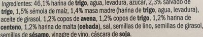 Hogaza cereales - Ingredients - es