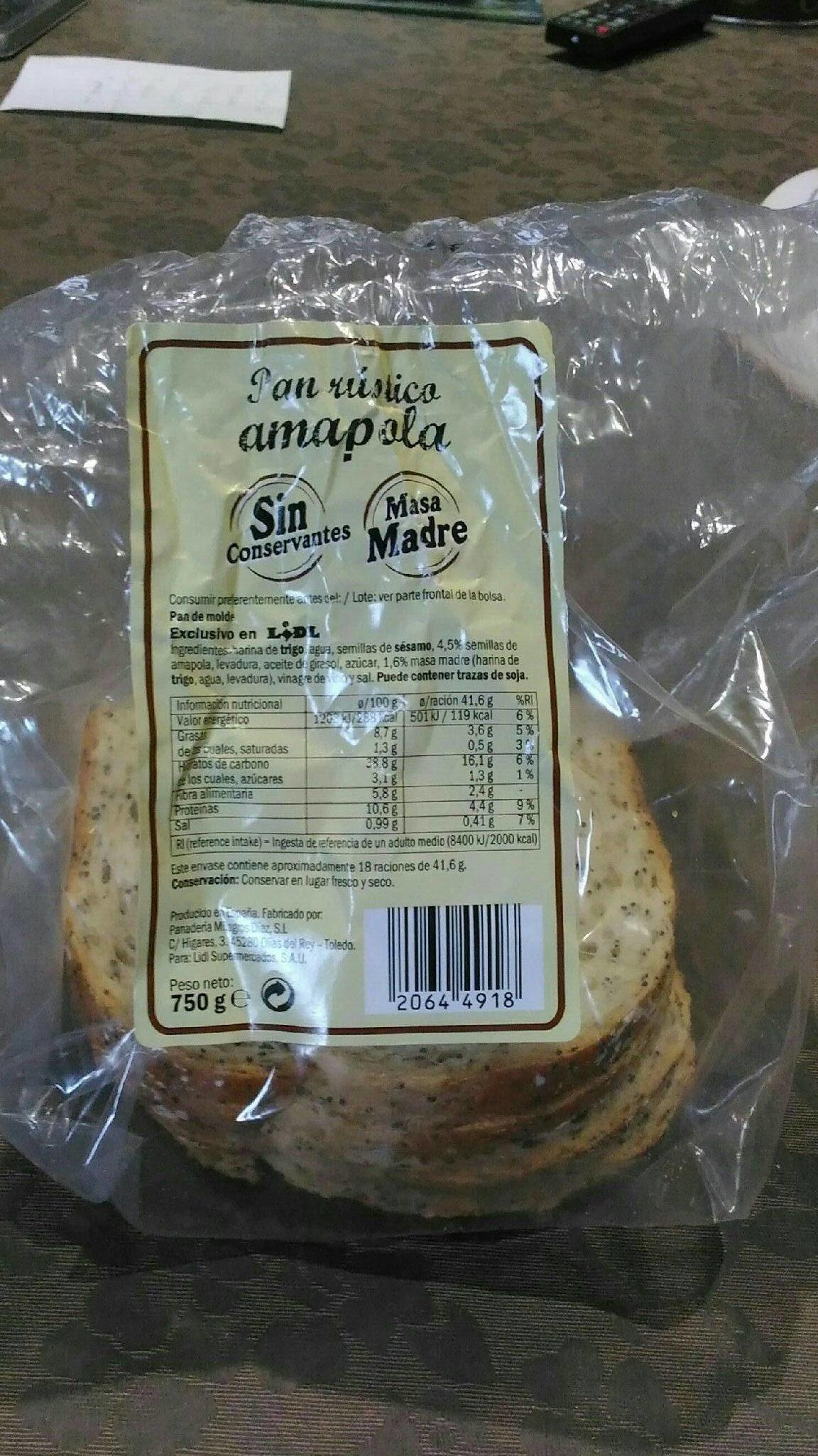 Pan con semillas de amapola - Producte
