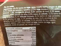 "Pain de mie ""Grano completo"" - Ingredients"