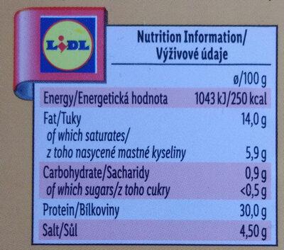 Jamón Serrano ETG - Informations nutritionnelles