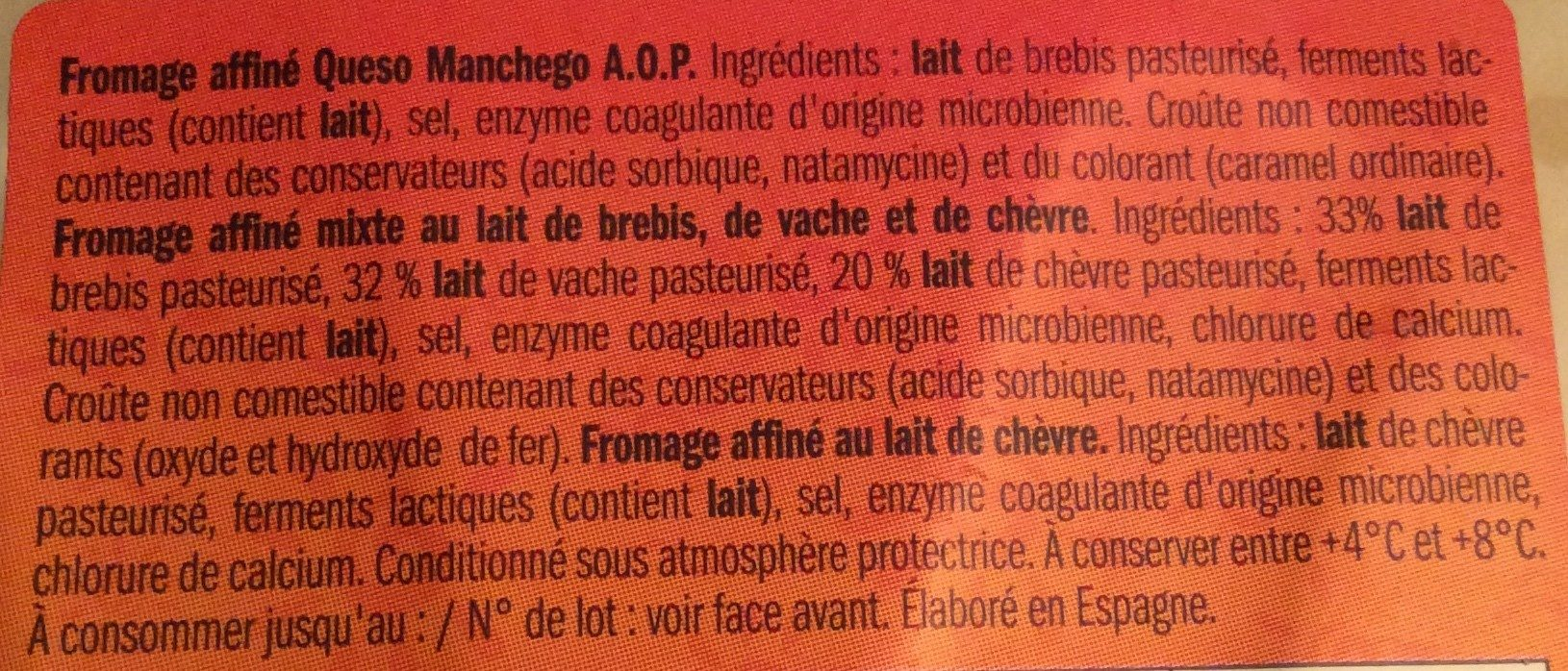 Tapas de Queso - Zutaten - fr