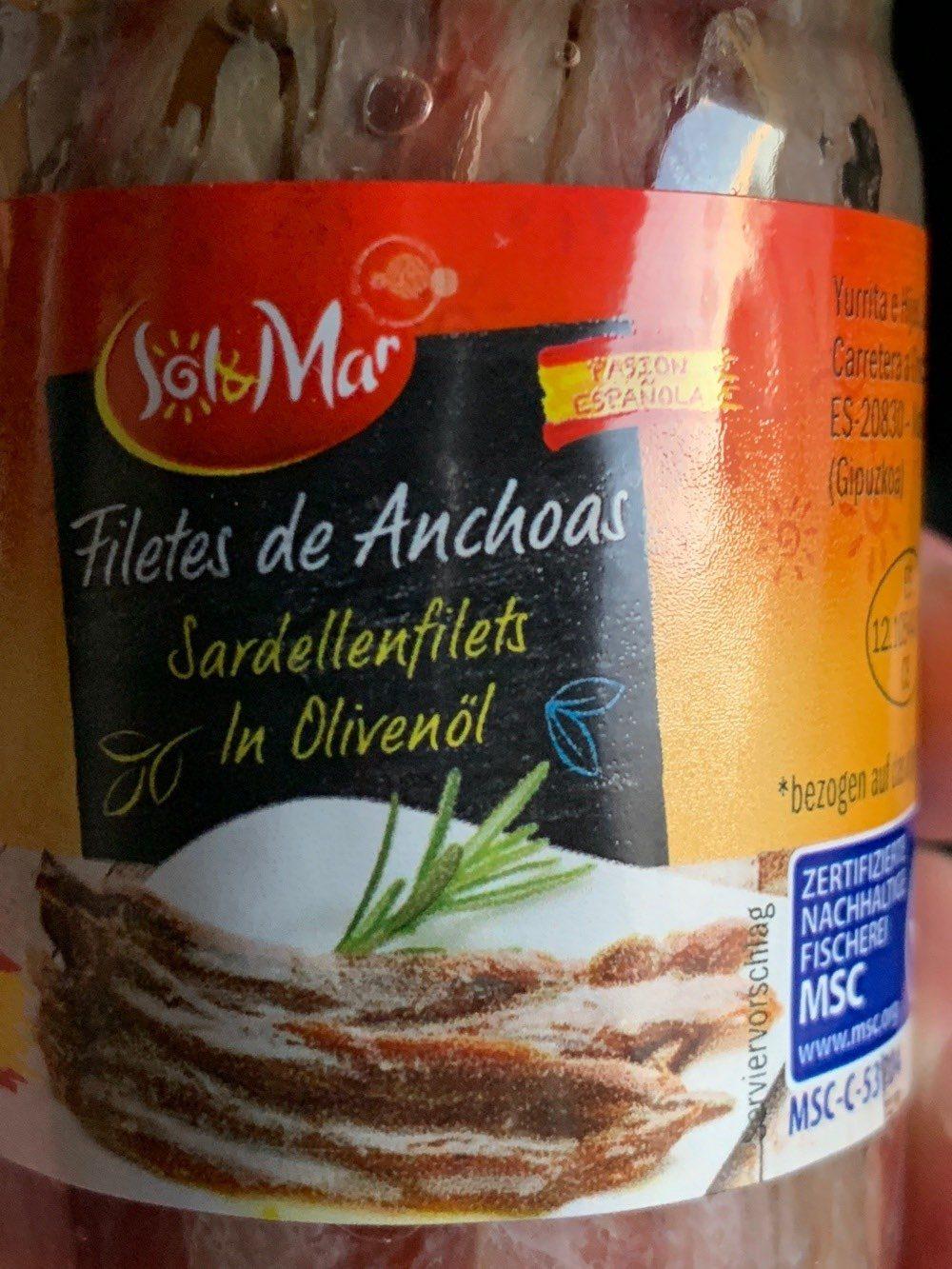 Filets d'anchois - Produit - de