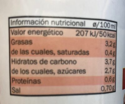 Gazpacho Tradicional - Chef Select - Informations nutritionnelles