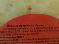 Tortilla aux Oignons - Ingredients