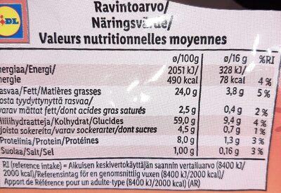 Pain grillé tomate & origan - Voedingswaarden - fr