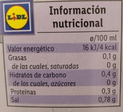 Caldo de pescado - Informació nutricional - es