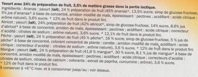 Yaourt aux fruits avec morceaux - Ingredients - fr