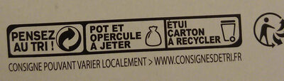Yaourt aux fruits avec morceaux - Recycling instructions and/or packaging information - fr