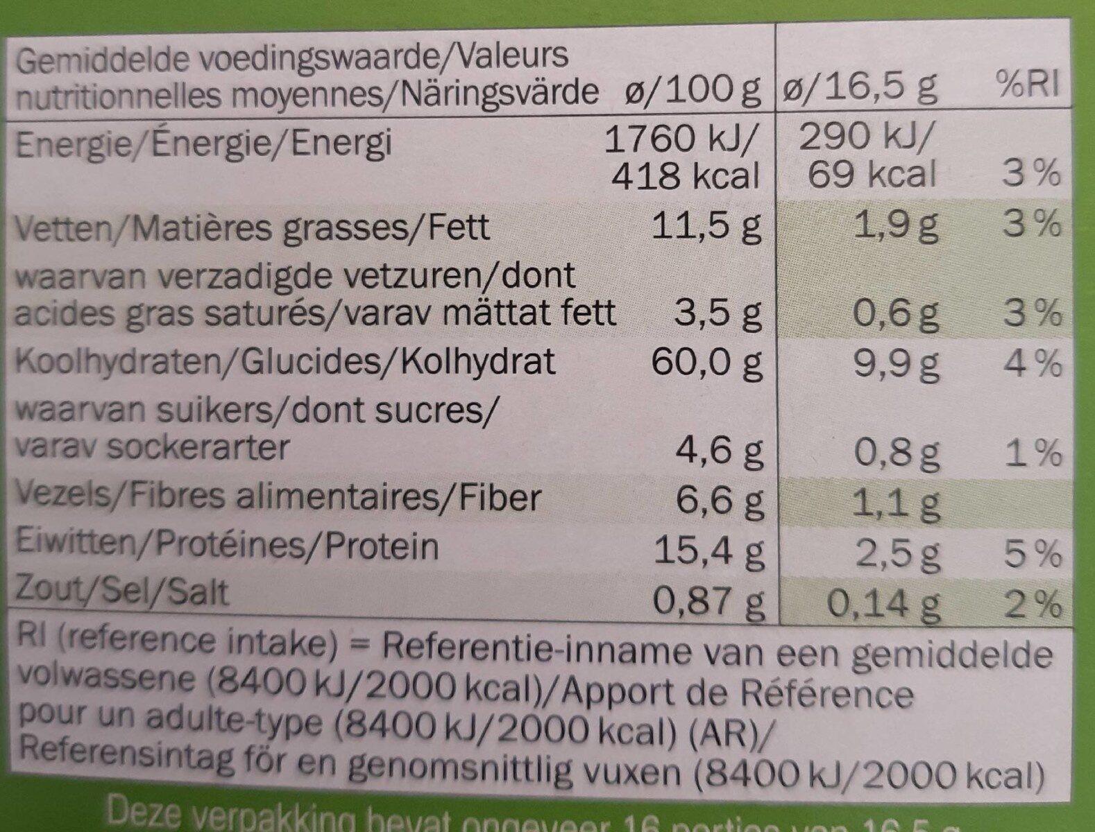 Knäckebröd - Voedingswaarden - fr