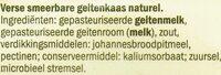 Verse Geitenkaas spread naturel - Ingredients - nl