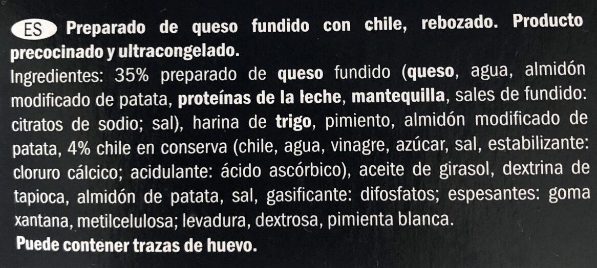 Chili-cheese Nuggets - Ingredients - fr