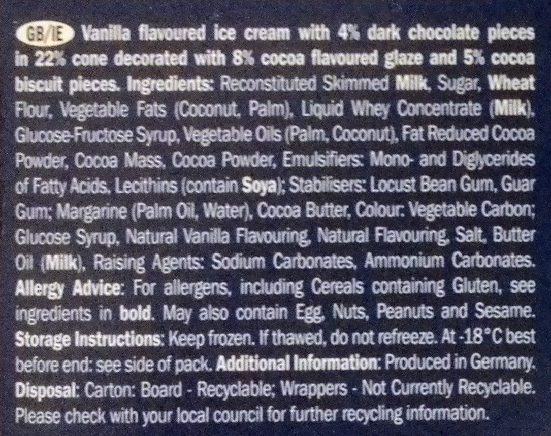 Ecorino minis Vanilla Neo - Ingrédients