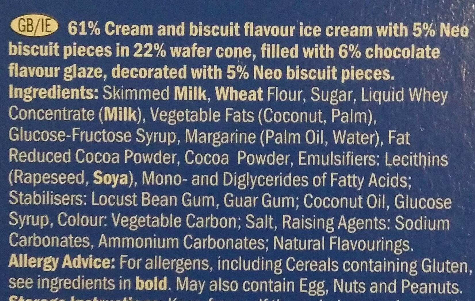 Mini NEO Ice Cream Cones - Ingredientes - en