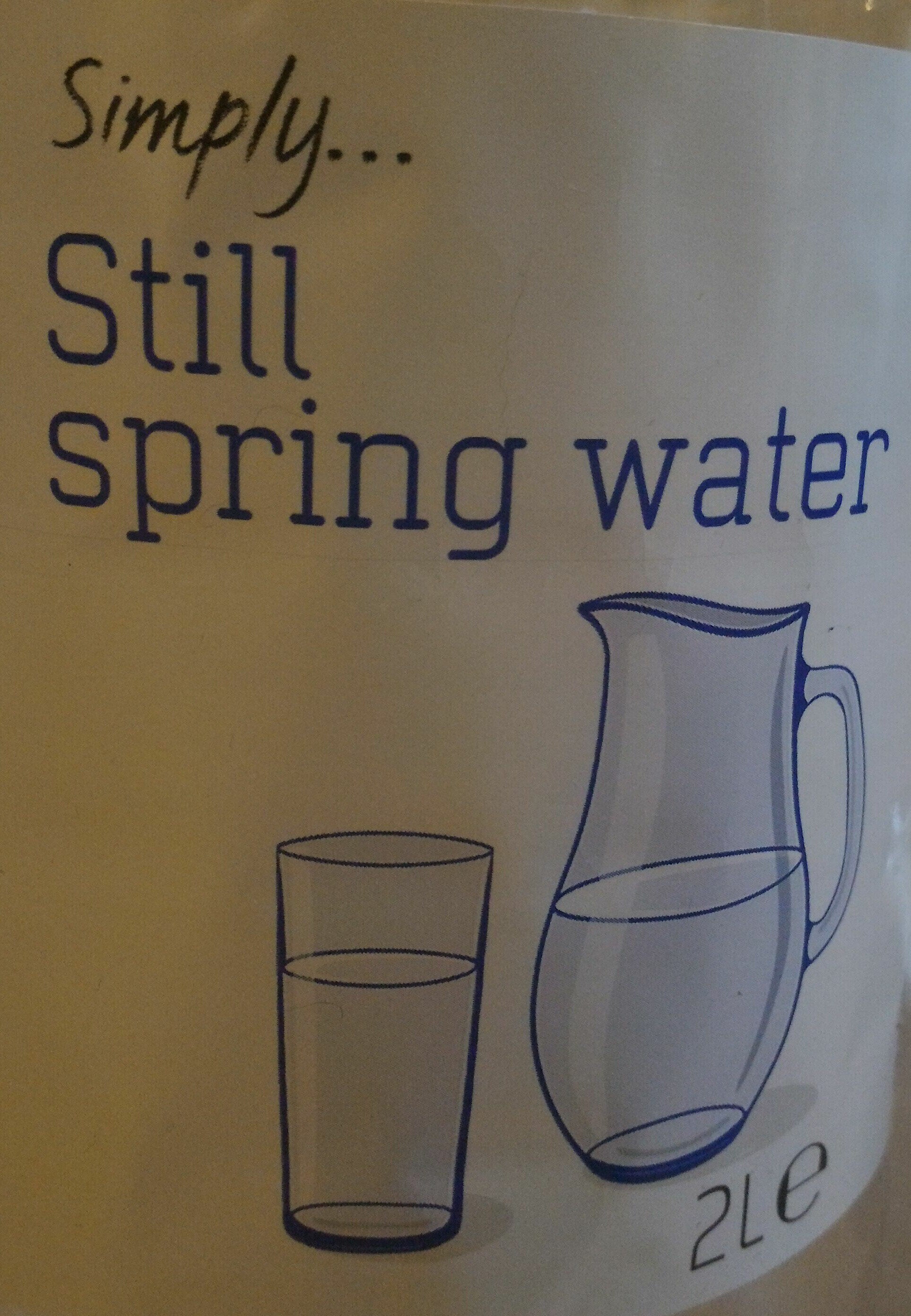 Still spring water - Product