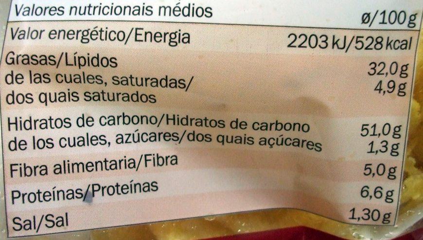 Batatas fritas ao estilo tradicional - Informations nutritionnelles