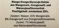 Fairglobe Mango orange maracuja nektar - Zutaten - de