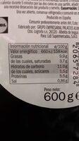 Tortilla de patatas con cebolla - Informação nutricional
