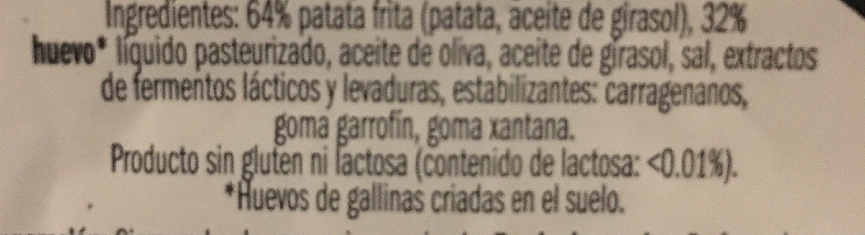 Tortilla de patata - Ingrédients