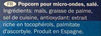 Salted popcorn - Ingredienti - fr