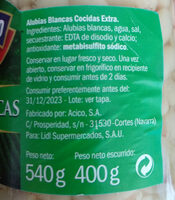 Alubias Blancas - Ingredientes - es
