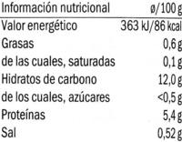 Alubias Blancas - Información nutricional - es